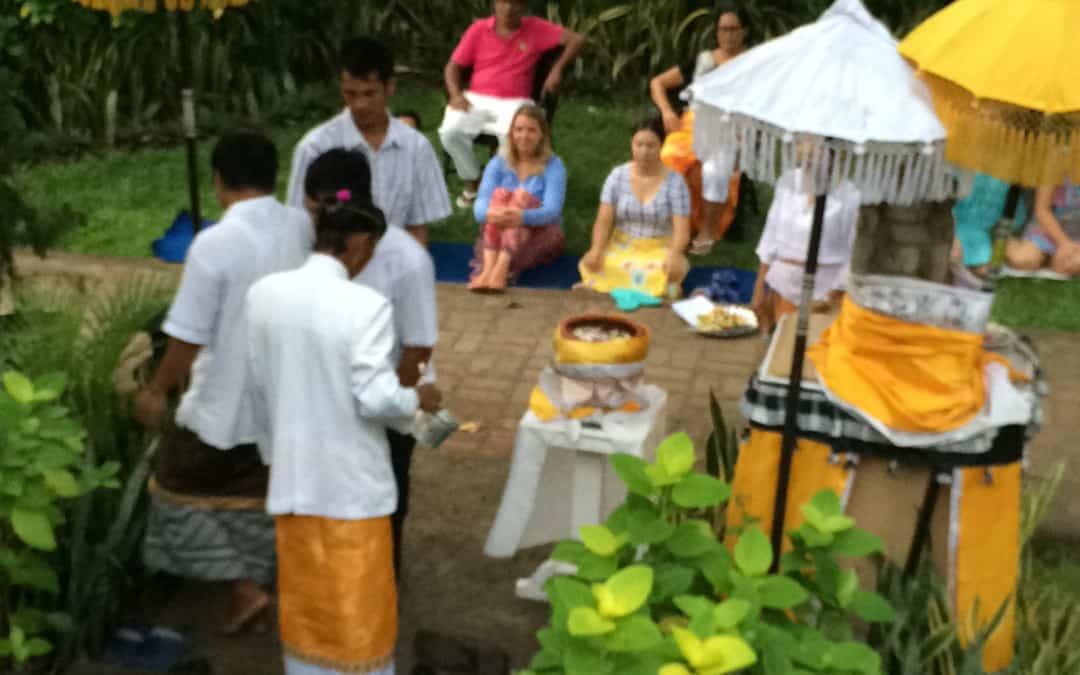Melukat Ceremony- Water Blessing in Bali at Zen Resort